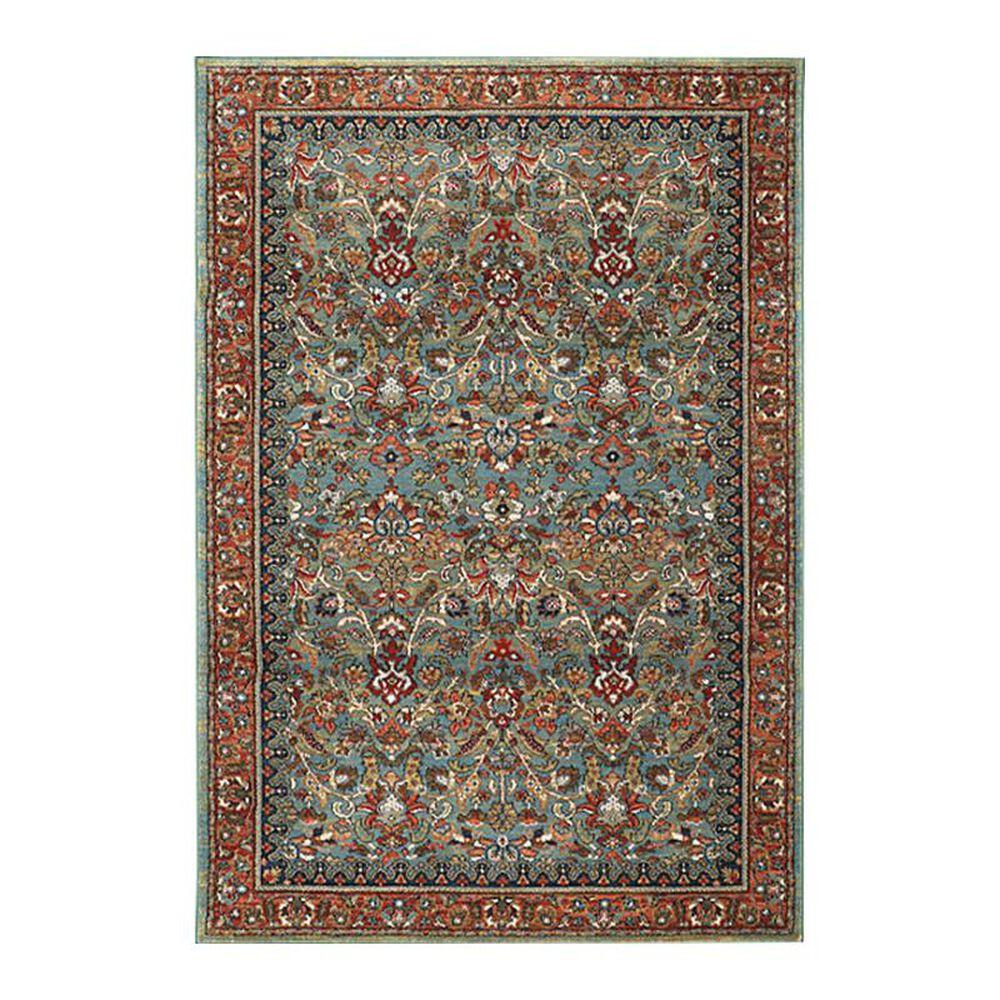 "Karastan Spice Market Tigris 90662 3'5"" x 5'5"" Aquamarine Area Rug, , large"