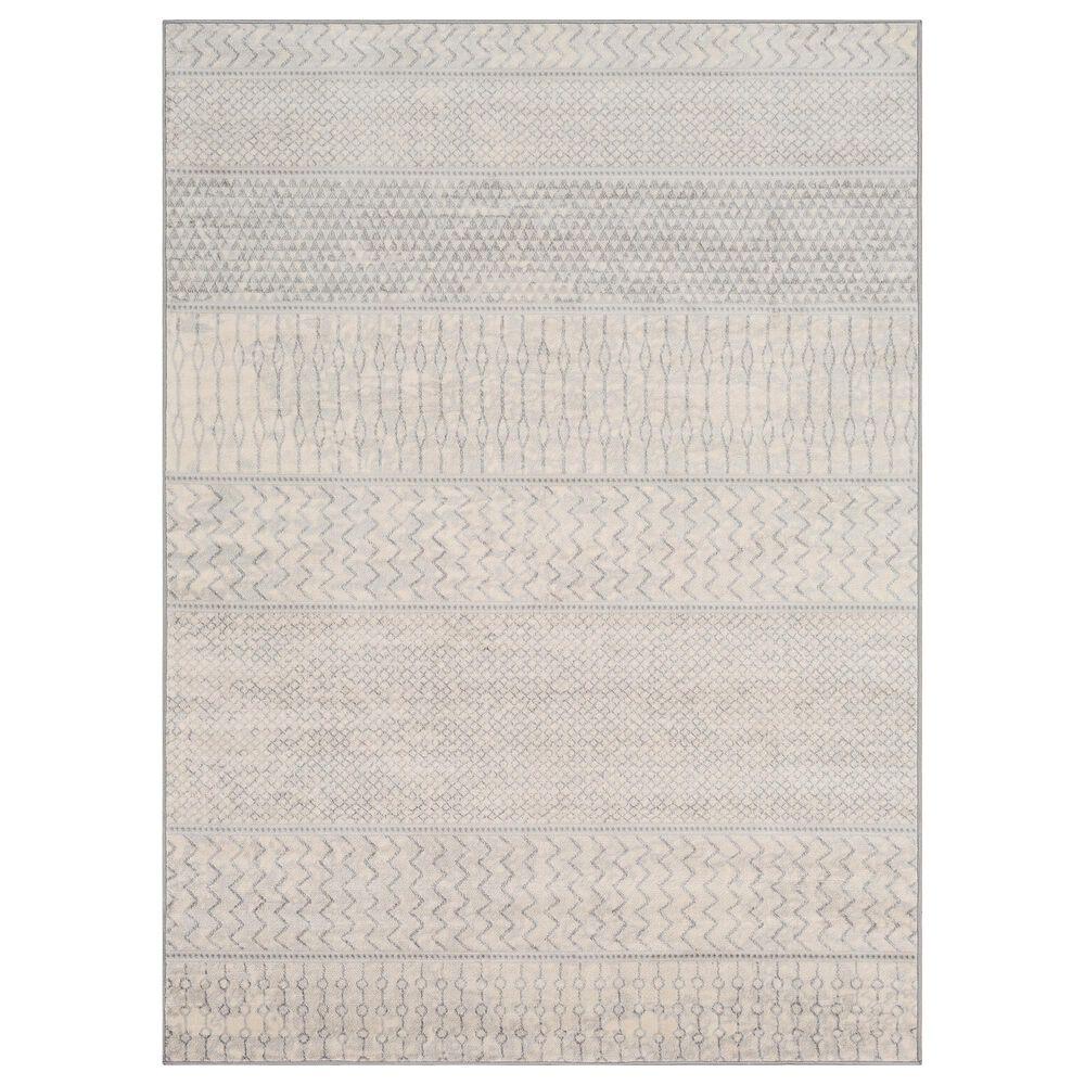 "Surya Monaco MOC-2306 4'3"" x 6' Silver Gray and Cream Area Rug, , large"