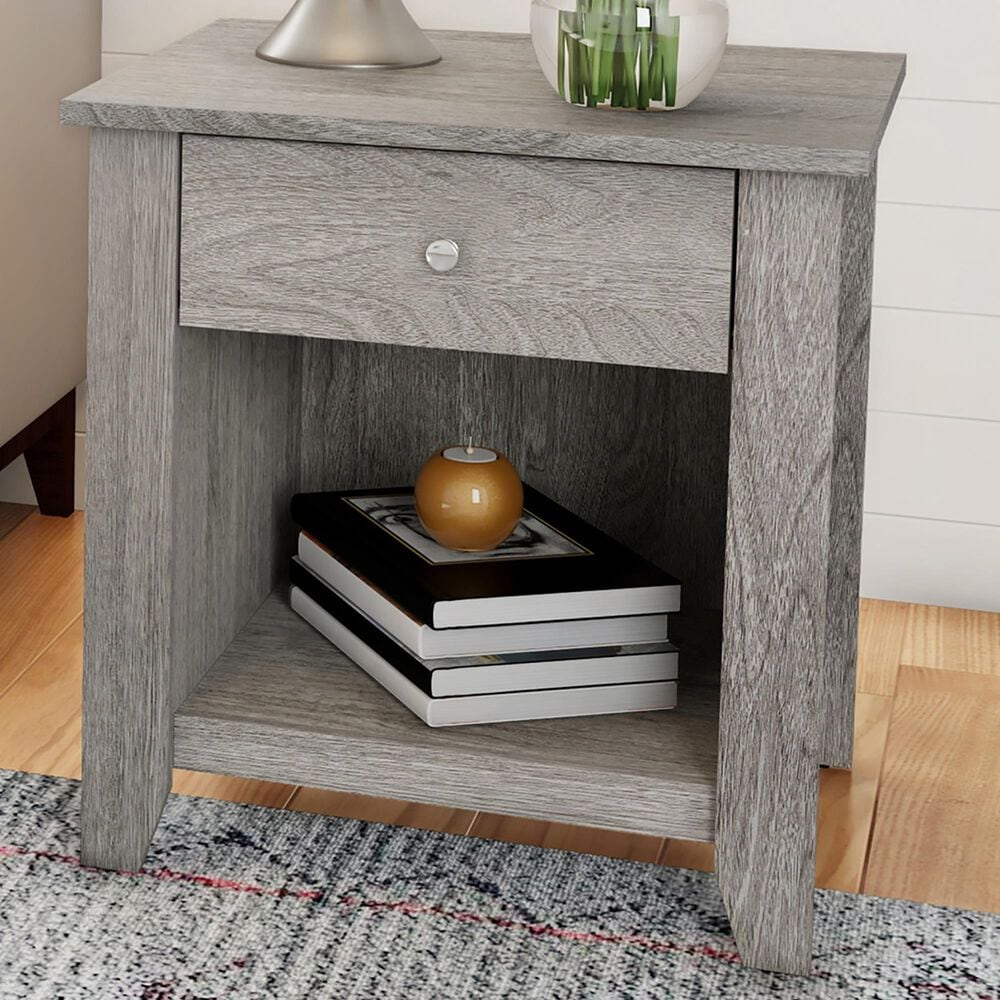 Timberlake Hastings Home 1-Drawer End Table in Gray, , large