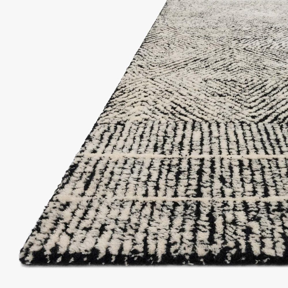 """ED Ellen DeGeneres Crafted by Loloi Kopa 7'9"""" x 9'9"""" Black and Ivory Area Rug, , large"""