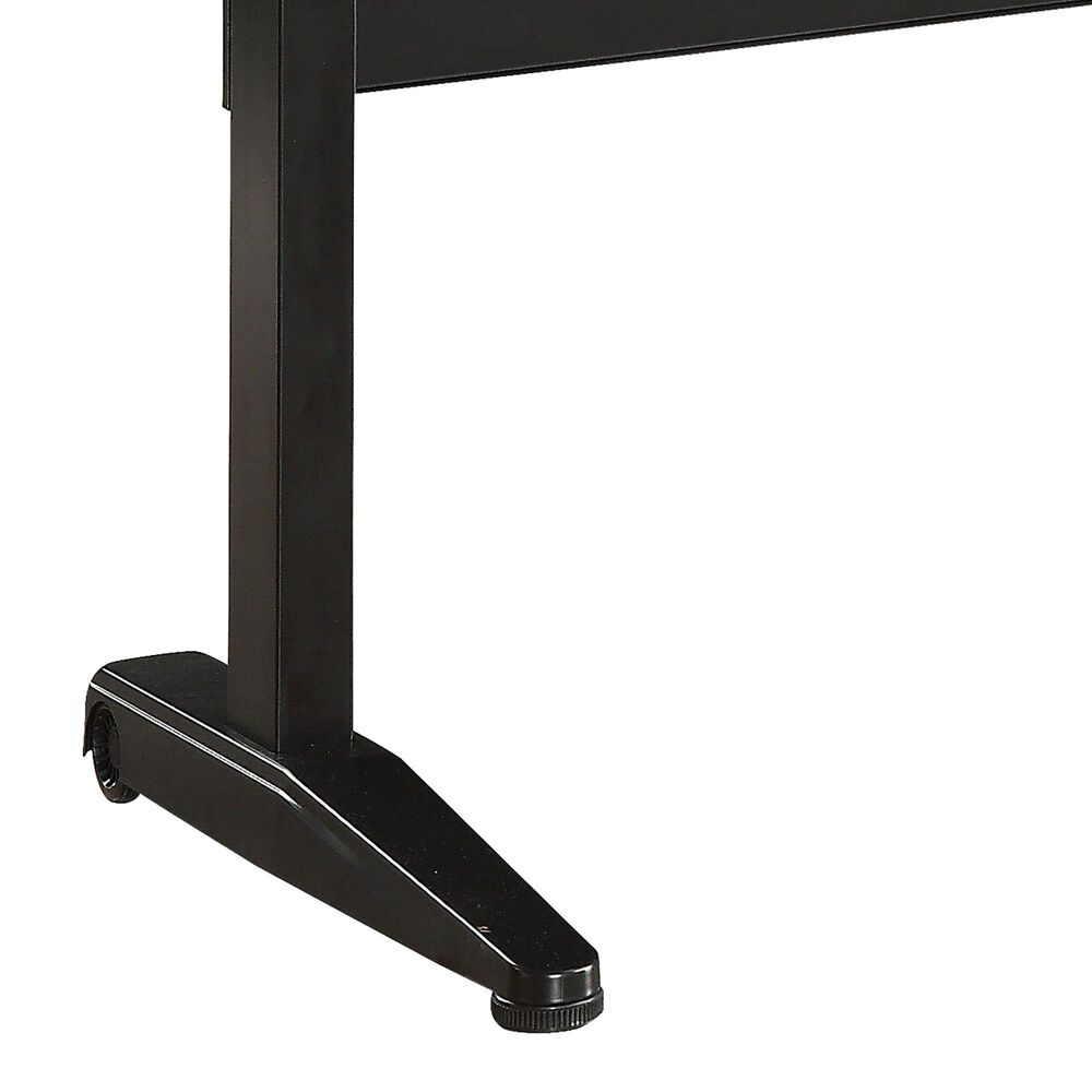 Furniture of America Pope Small Lift Computer Table in Black/Oak, , large
