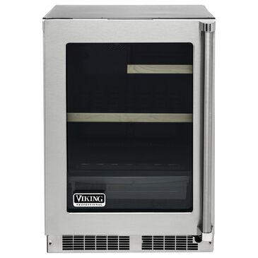 "Viking Range 24"" Glass Door Undercounter Refrigerator in Stainless Steel, , large"