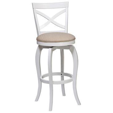 Richlands Furniture Ellendale Swivel Bar Stool in White, , large
