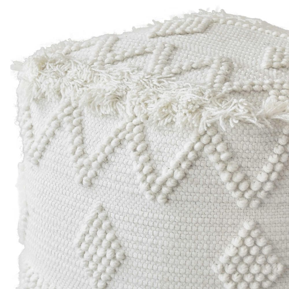 Uttermost Uriah Pouf in Soft Ivory, , large