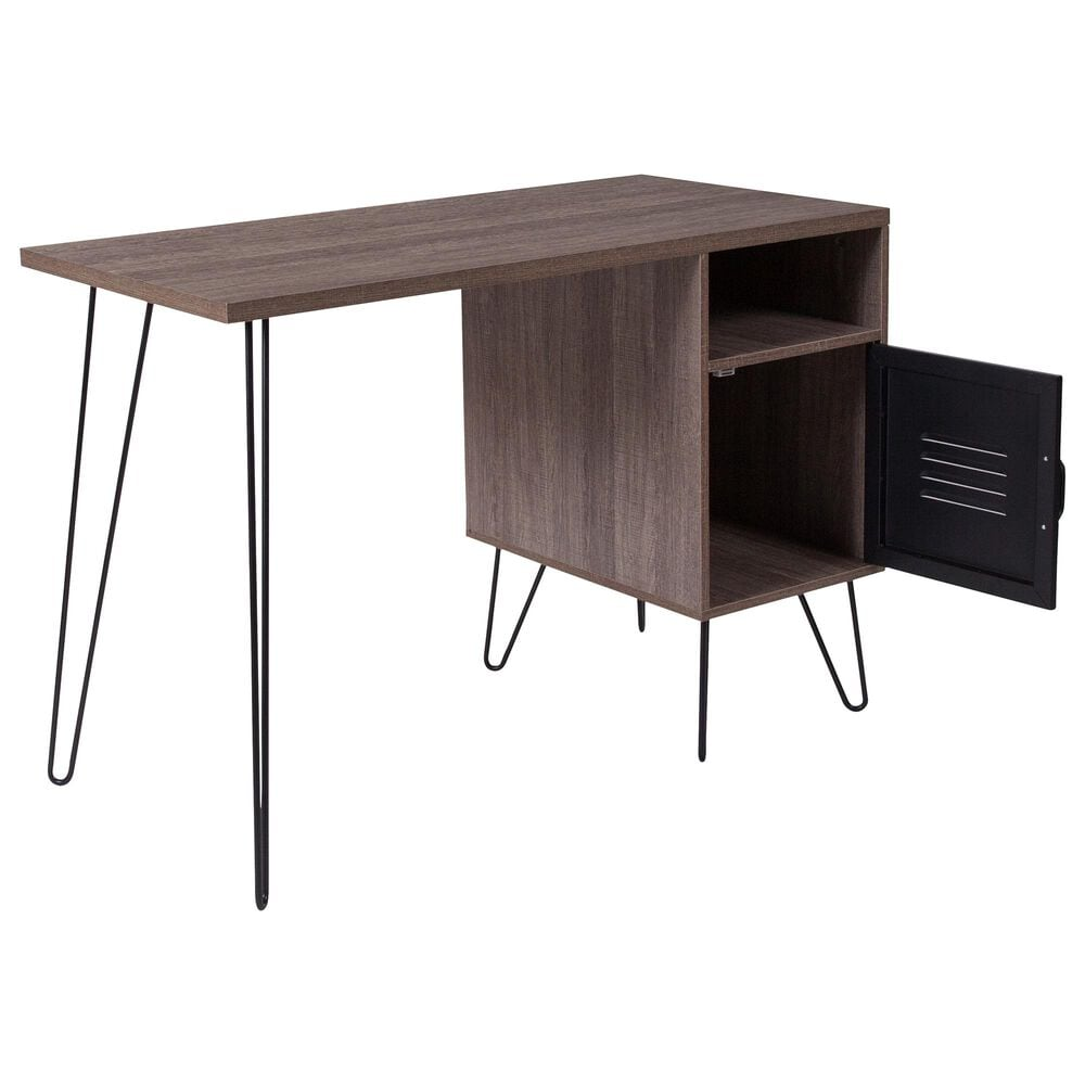 Flash Furniture Woodridge Desk in Brown, , large