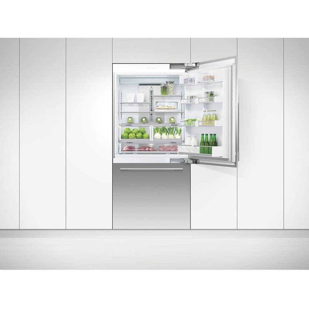 """Fisher and Paykel 16.8 Cu. Ft. Integrated 36"""" Bottom Freezer Refrigerator in Stainless Steel, , large"""