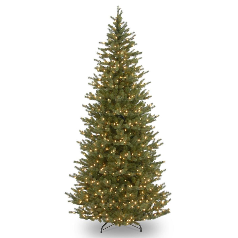 """National Tree 7.5"""" Feel Real Norway Slim Spruce Tree with 700 White Lights, , large"""