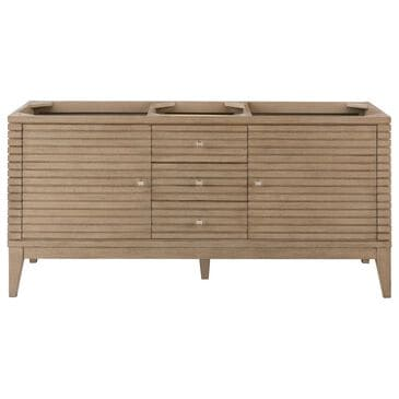 """James Martin Linear 59"""" Double Vanity Cabinet in White Washed Walnut, , large"""