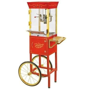 Retro Appliances Old Fashioned Movie Time Popcorn Cart, , large