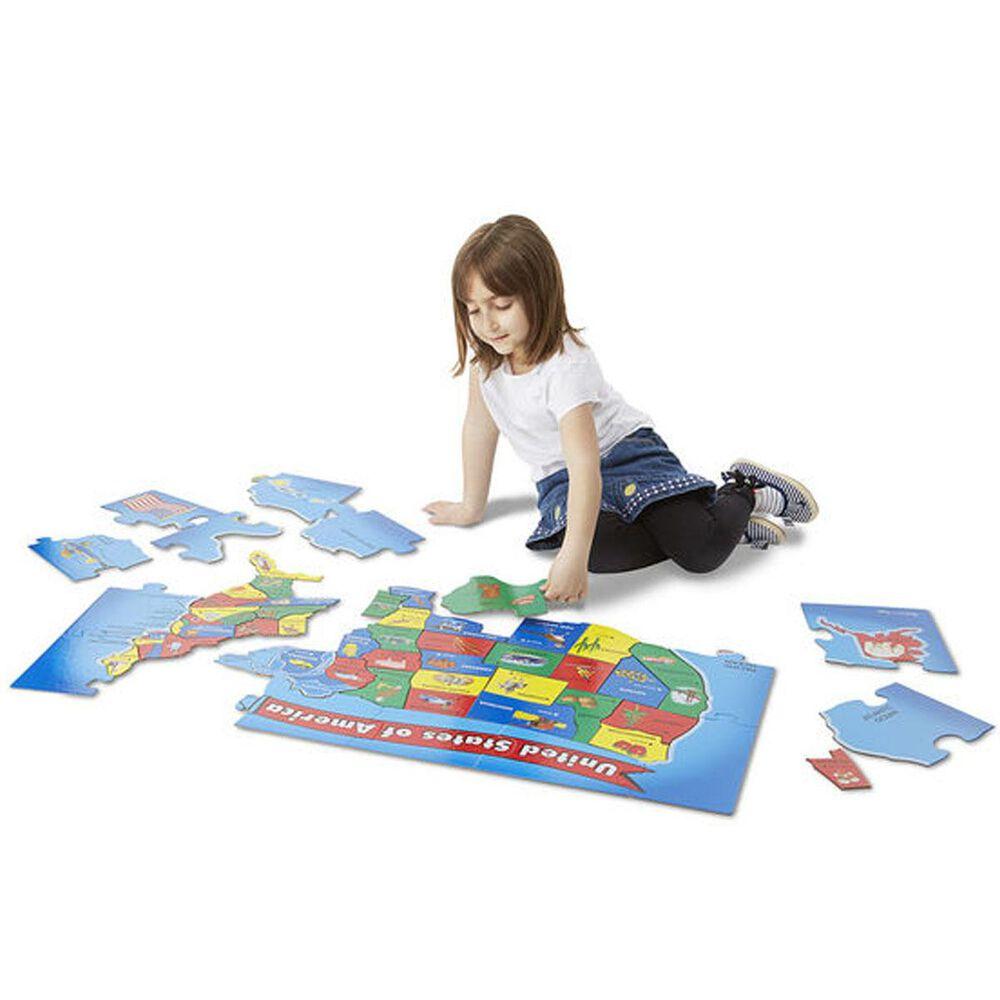 Melissa & Doug United States Map 51 Piece Floor Puzzle, , large