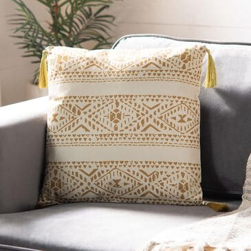 "Safavieh Valen 16"" Pillow in Brown, , large"