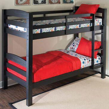 Parkerville Furniture Line Porter Twin Bunk Bed in Black, , large