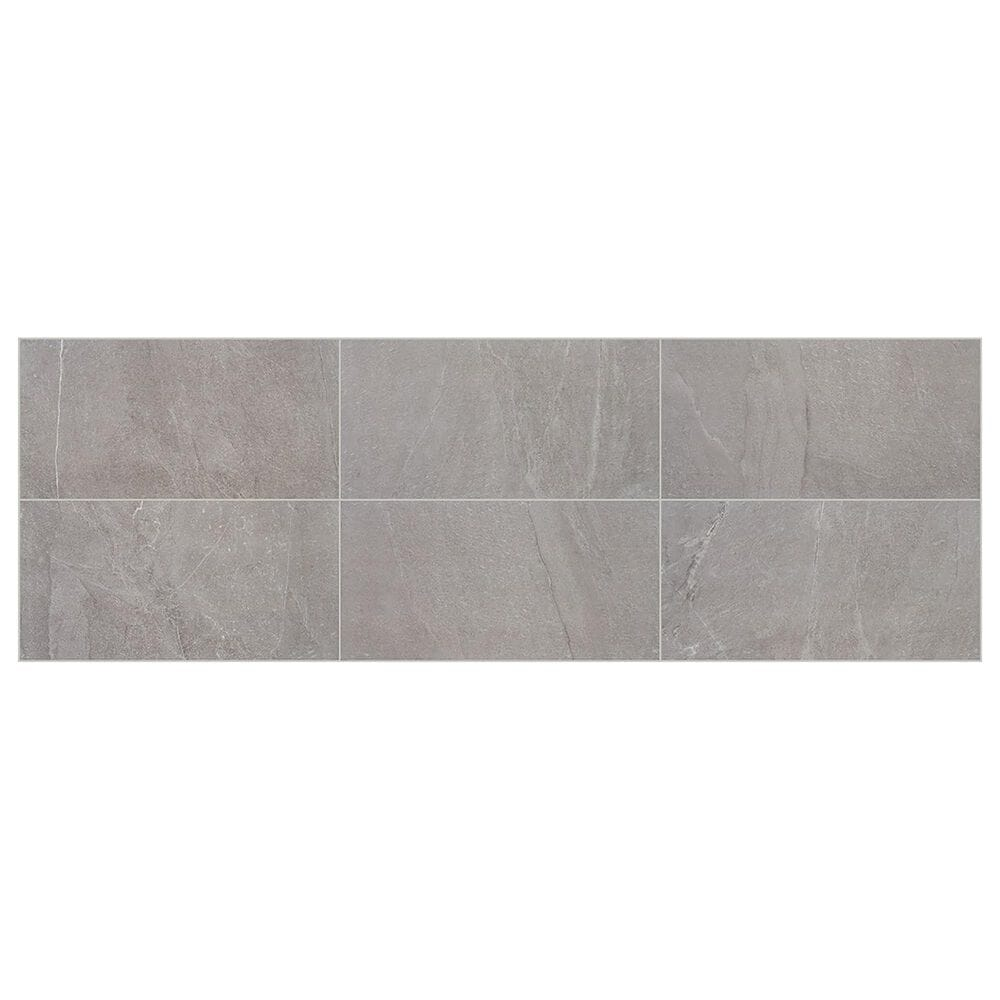 """Marazzi Marble Obsession 12"""" x 24"""" Matte Porcelain Tile in Grigio, , large"""