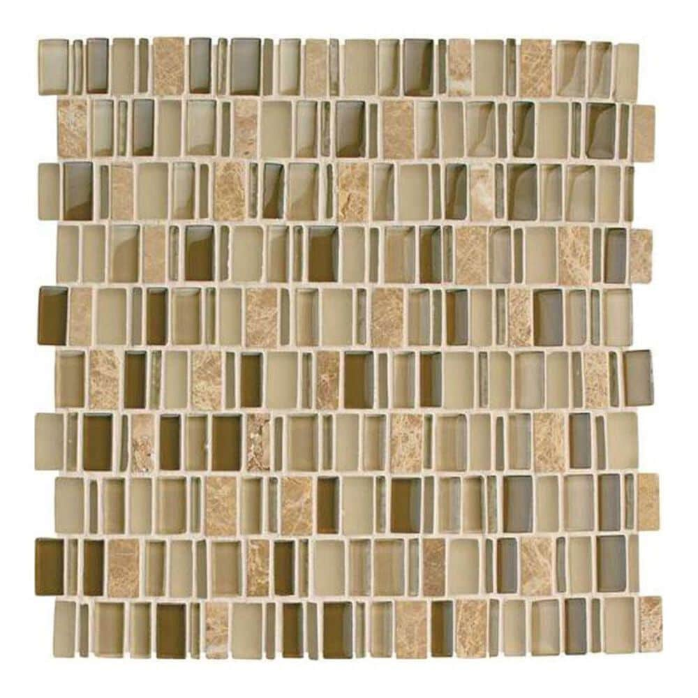 "Dal-Tile Clio Mosaics Selene 12"" x 12"" Glass and Stone Mosaic Sheet, , large"