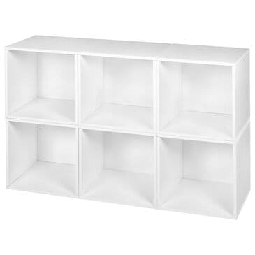 Regency Global Sourcing Niche Cubo 6-Piece Storage Cube Set in White, , large