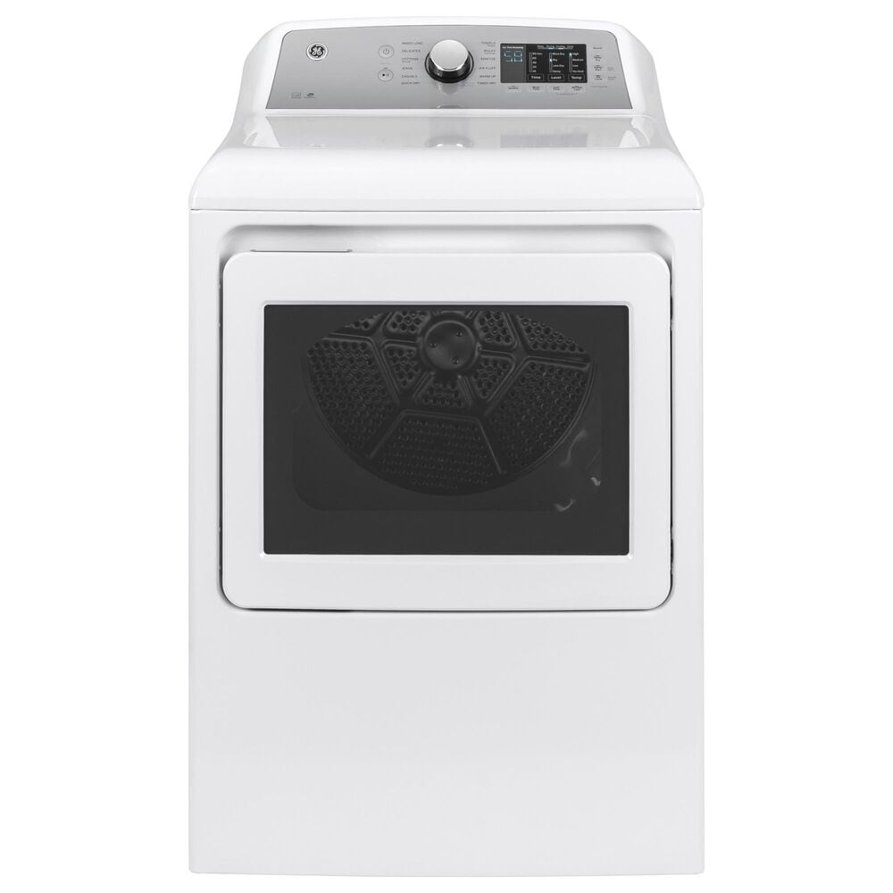 GE Appliances 4.8 Cu. Ft. Top Load Washer and 7.4 Cu. Ft. Gas Dryer Laundry Pair in White, , large
