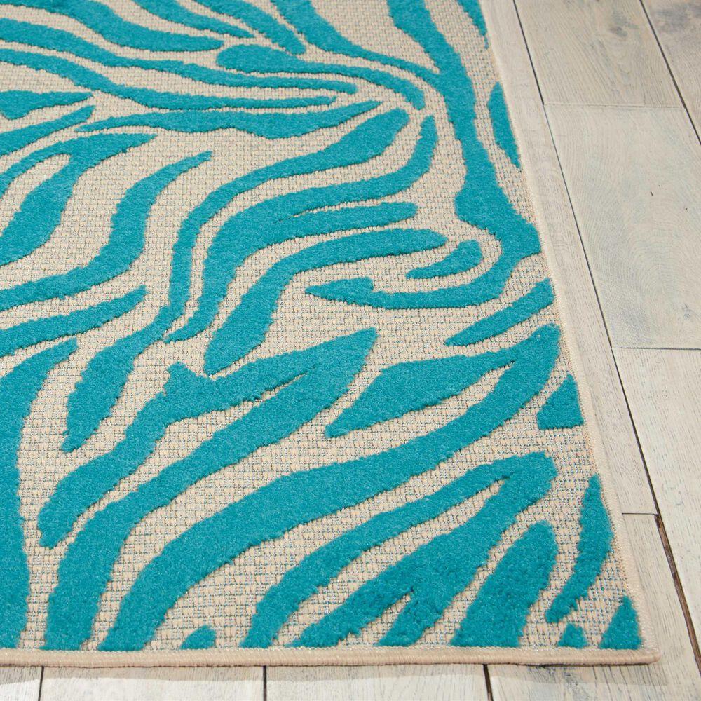 """Nourison Aloha ALH04 9'6"""" x 13' Blue Area Rug, , large"""