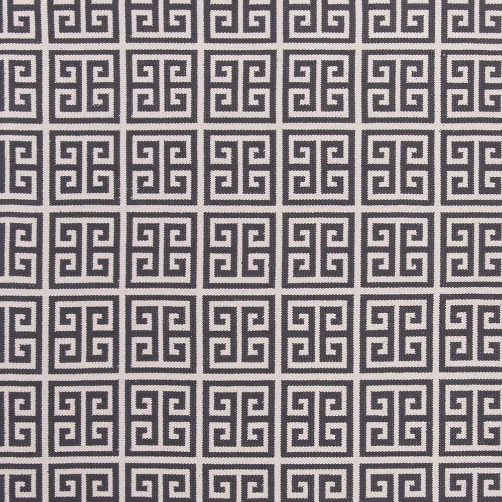 Safavieh Montauk  6' Square Dark Gray and Ivory Area Rug, , large