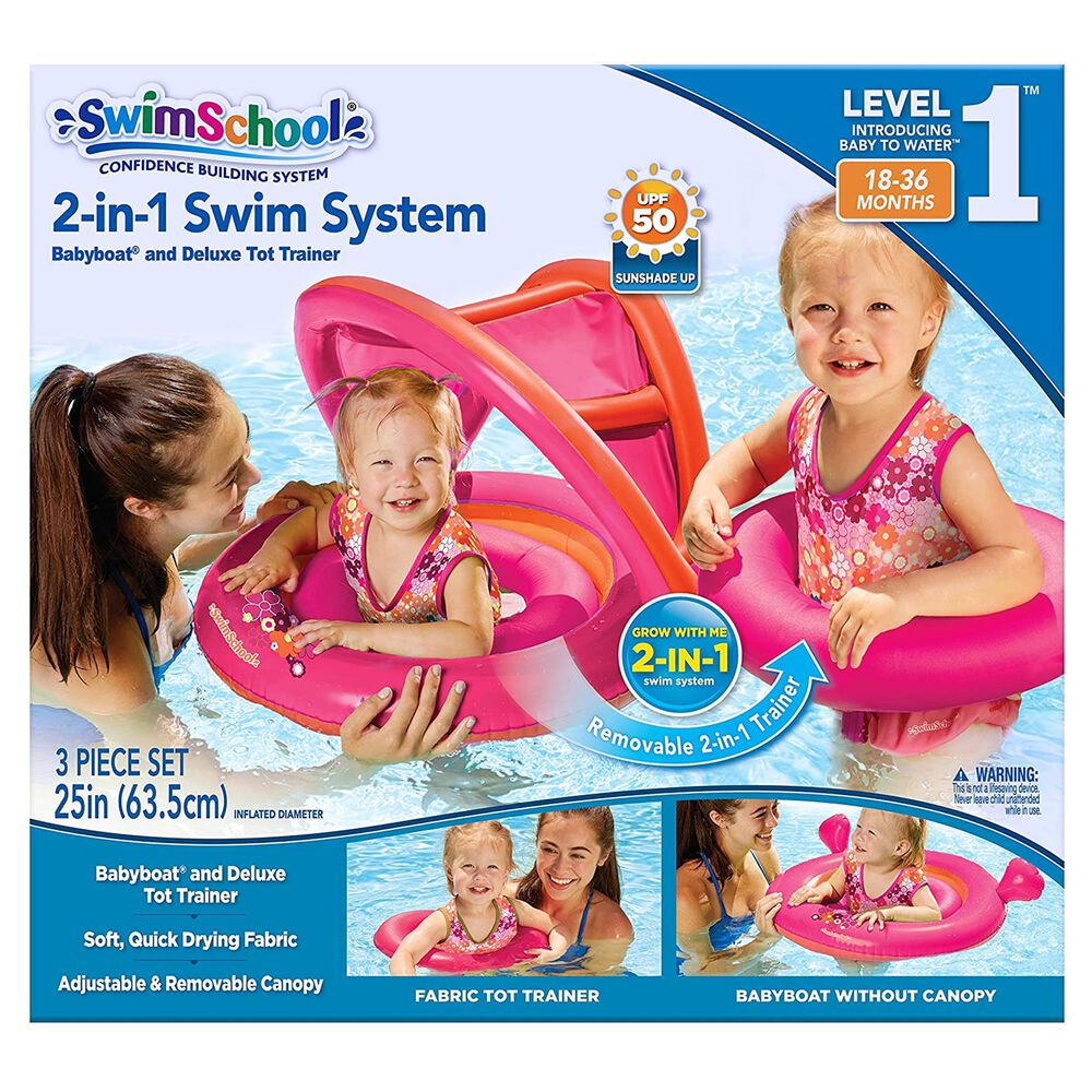 Grant & Bowman 2-In-1 Tot Trainer and Baby Boat Swim System, , large