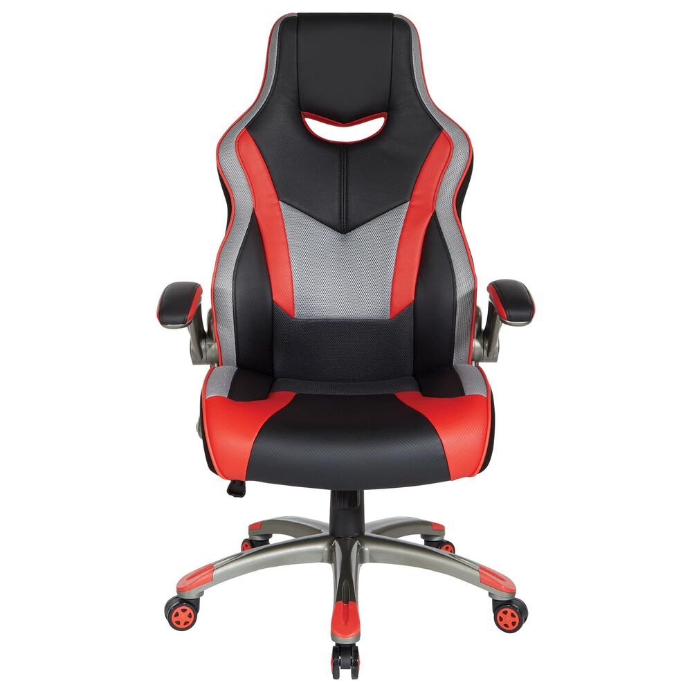 OSP Home Uplink Gaming Chair in Black and Red, , large