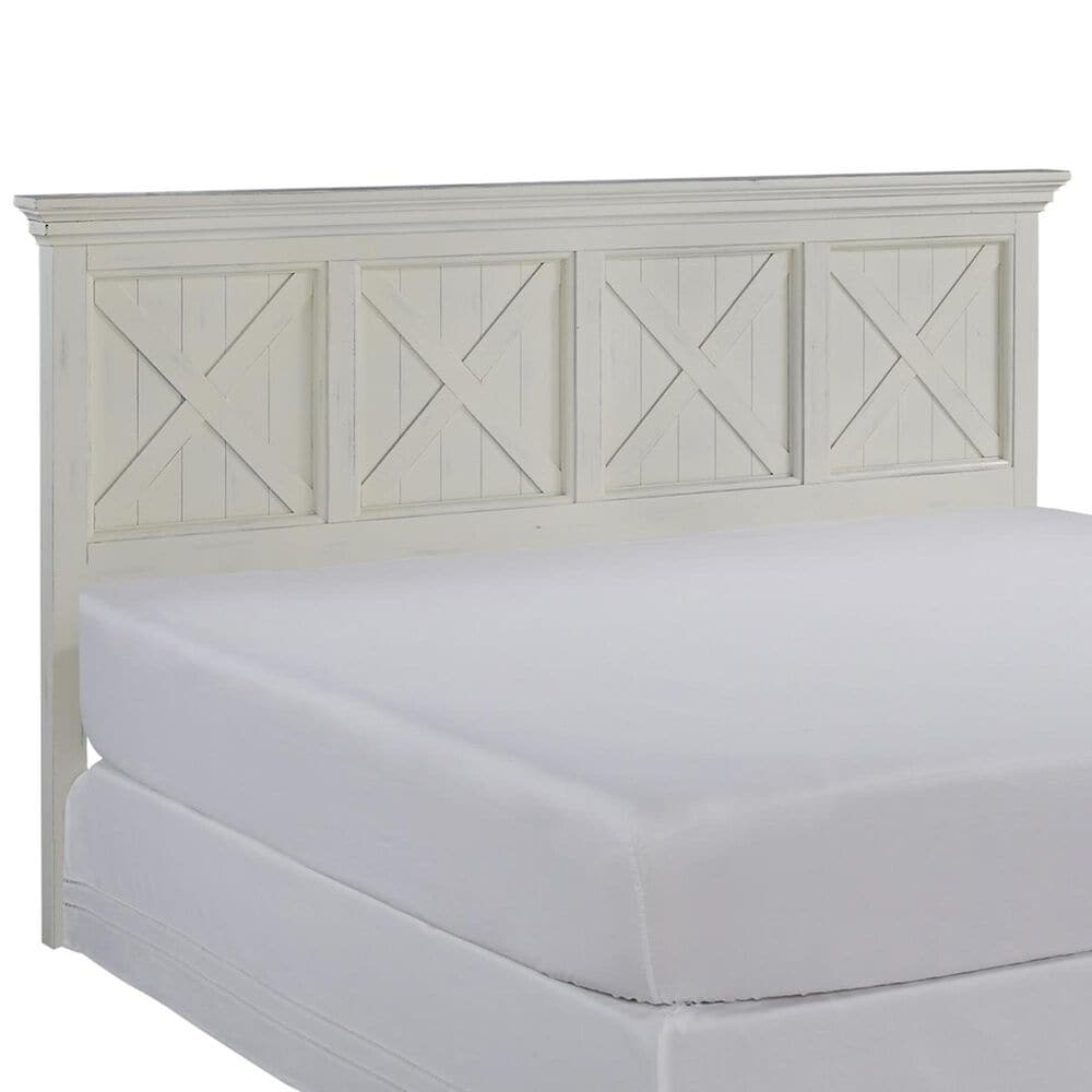 Homestyles Seaside Lodge King Headboard in Hand rubbed white, , large