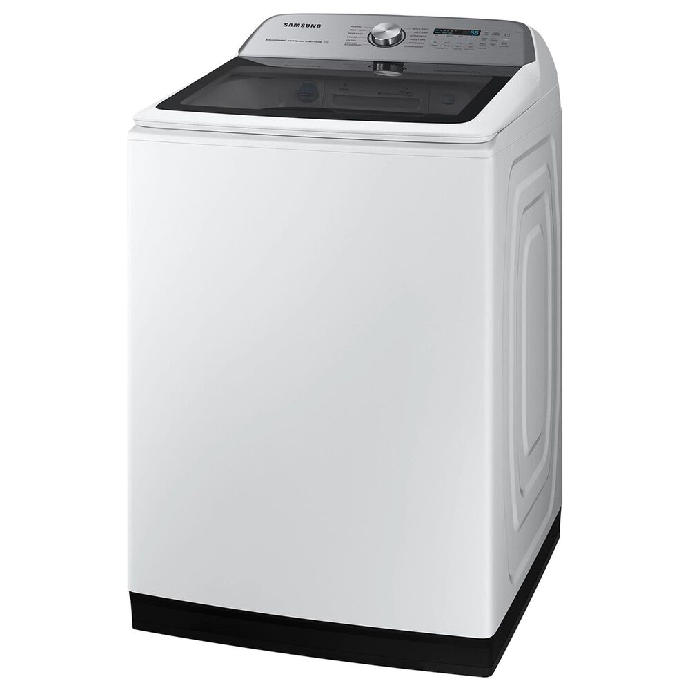 Samsung 5.1 Cu. Ft. Smart Top Load Agitator Washer and 7.4 Cu. Ft. Electric Dryer in White, , large