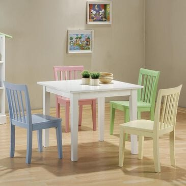 Pacific Landing Kinzie 5 Piece Youth Table and Chair Set, , large
