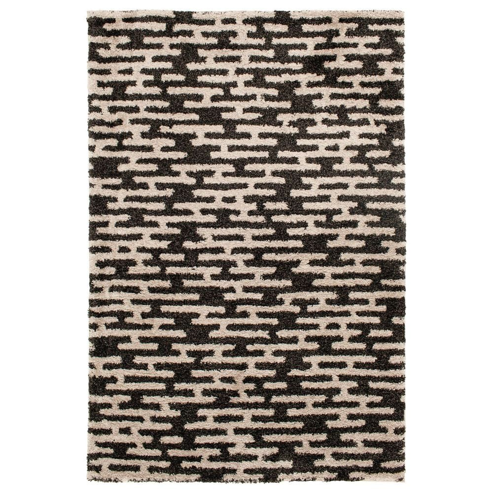 Central Oriental Tulsa Gordie 9863CHN 5' x 7' Iron and Nickel Area Rug, , large
