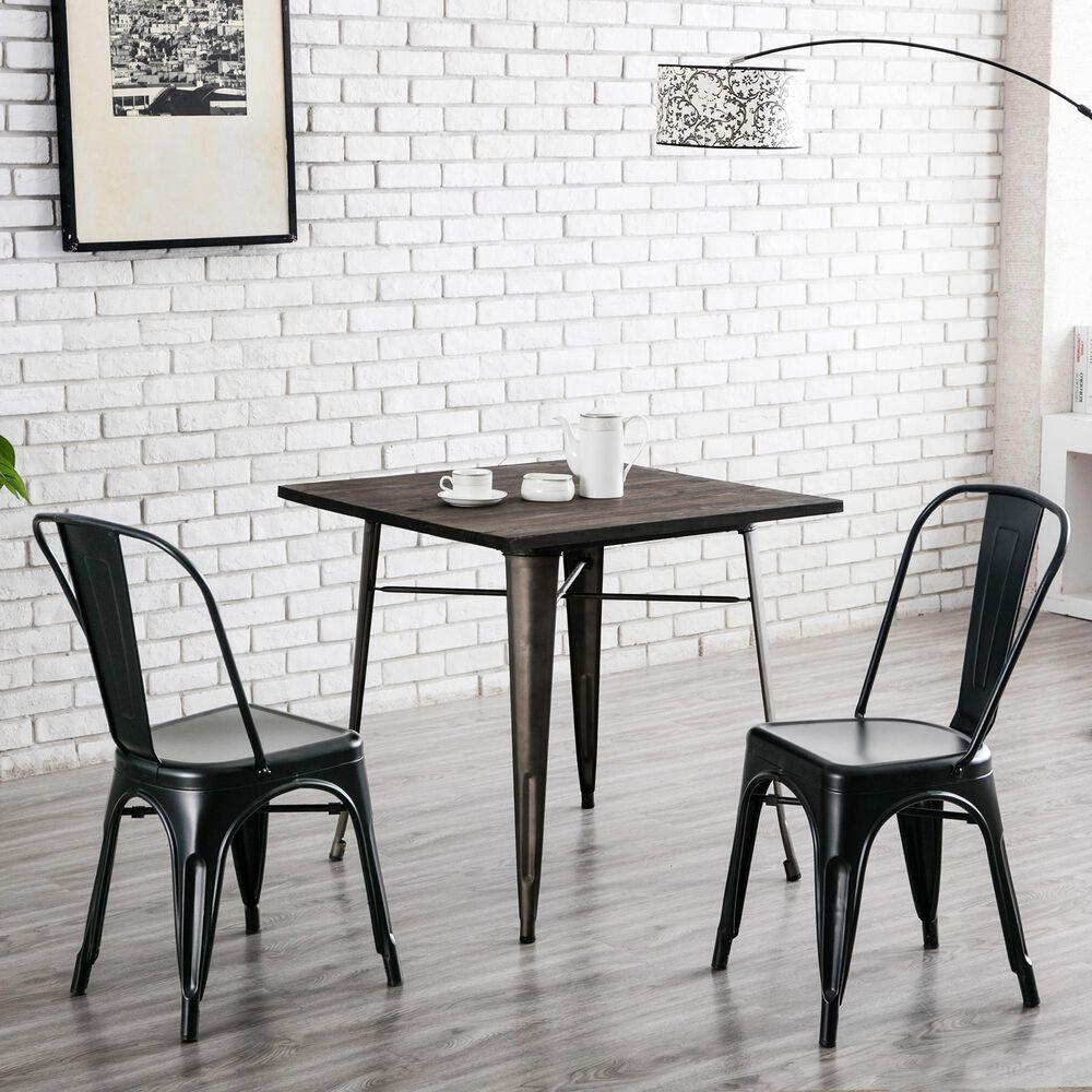 Carolina Cottage Adeline Metal Chair in Black (Set of 2), , large