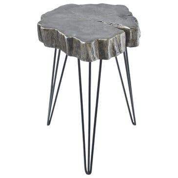 """Maple and Jade 20"""" x 11"""" Accent Table in Grey Metal, , large"""