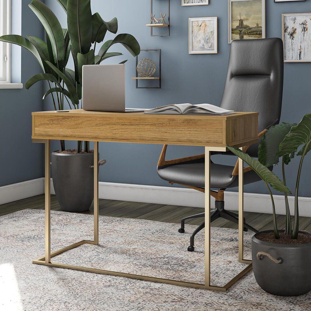 Ameriwood Furniture Hailey Computer Desk in Walnut, , large