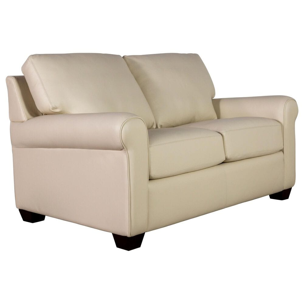 American Leather Savoy Leather Loveseat in Bison White, , large