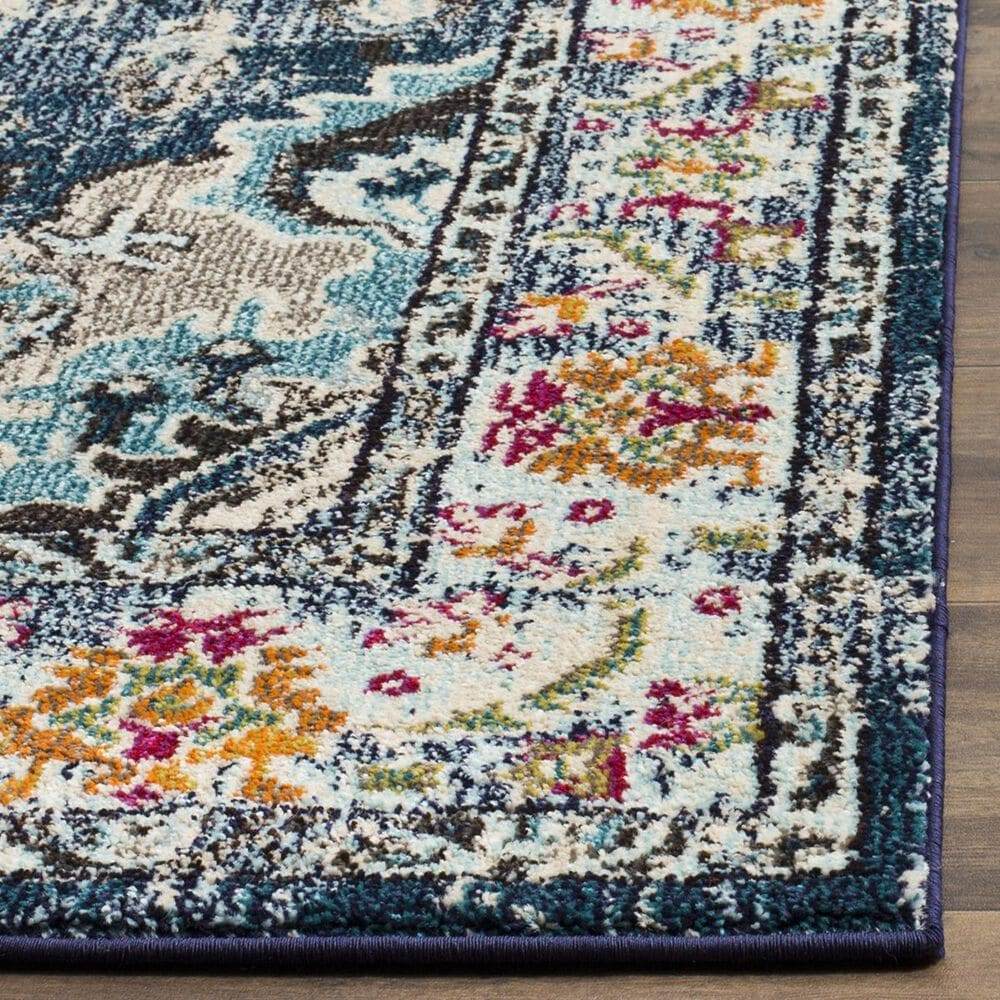 "Safavieh Monaco MNC243N-212 2'2"" x 12' Navy/Light Blue Runner, , large"