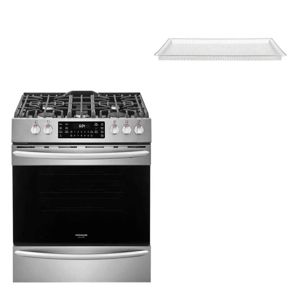 """Frigidaire 30"""" Front Control Gas Range with a Readycook Air Fry Tray in Stainless Steel, , large"""