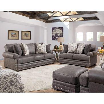 Moore Furniture McClain Ottoman in Steele, , large