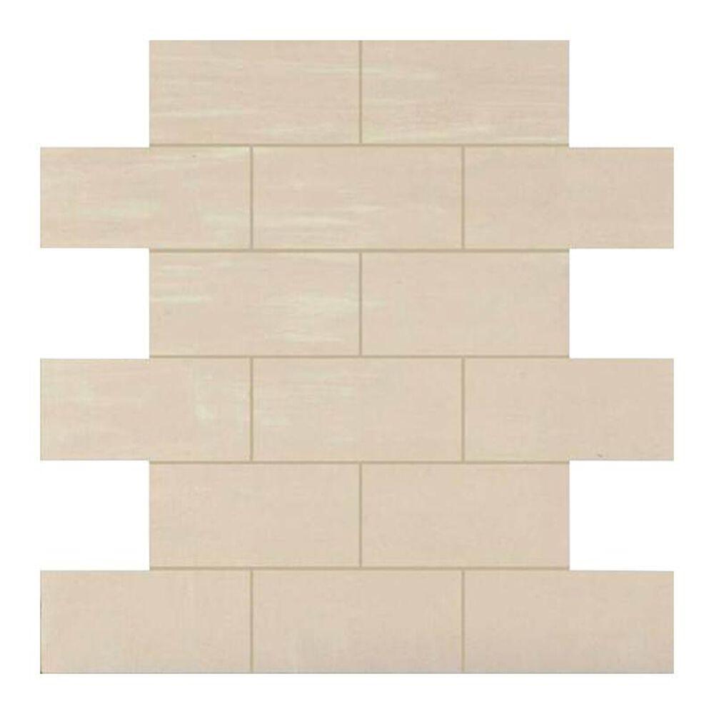 "Dal-Tile Skybridge 4"" x 2"" Ceramic Brick Joint Mosaic Tile in Off White, , large"