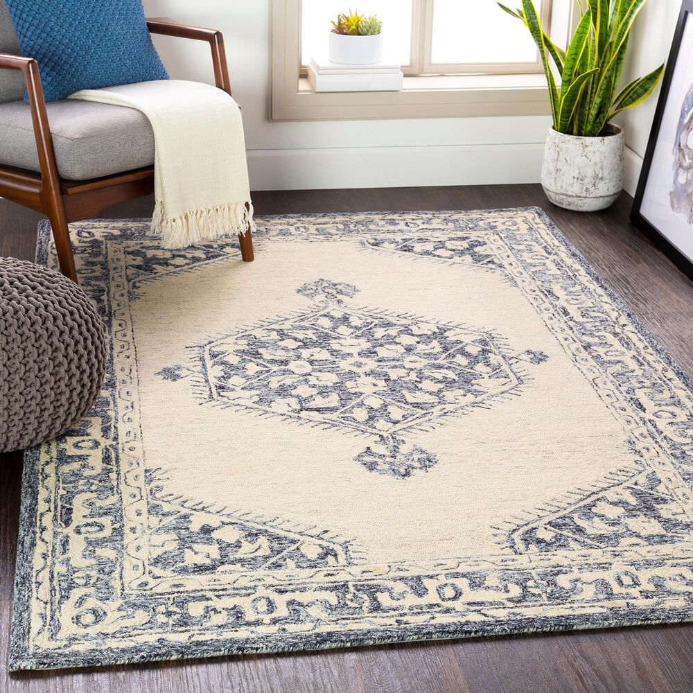 Surya Granada GND-2305 6' x 9' Black, Gray and Beige Area Rug, , large