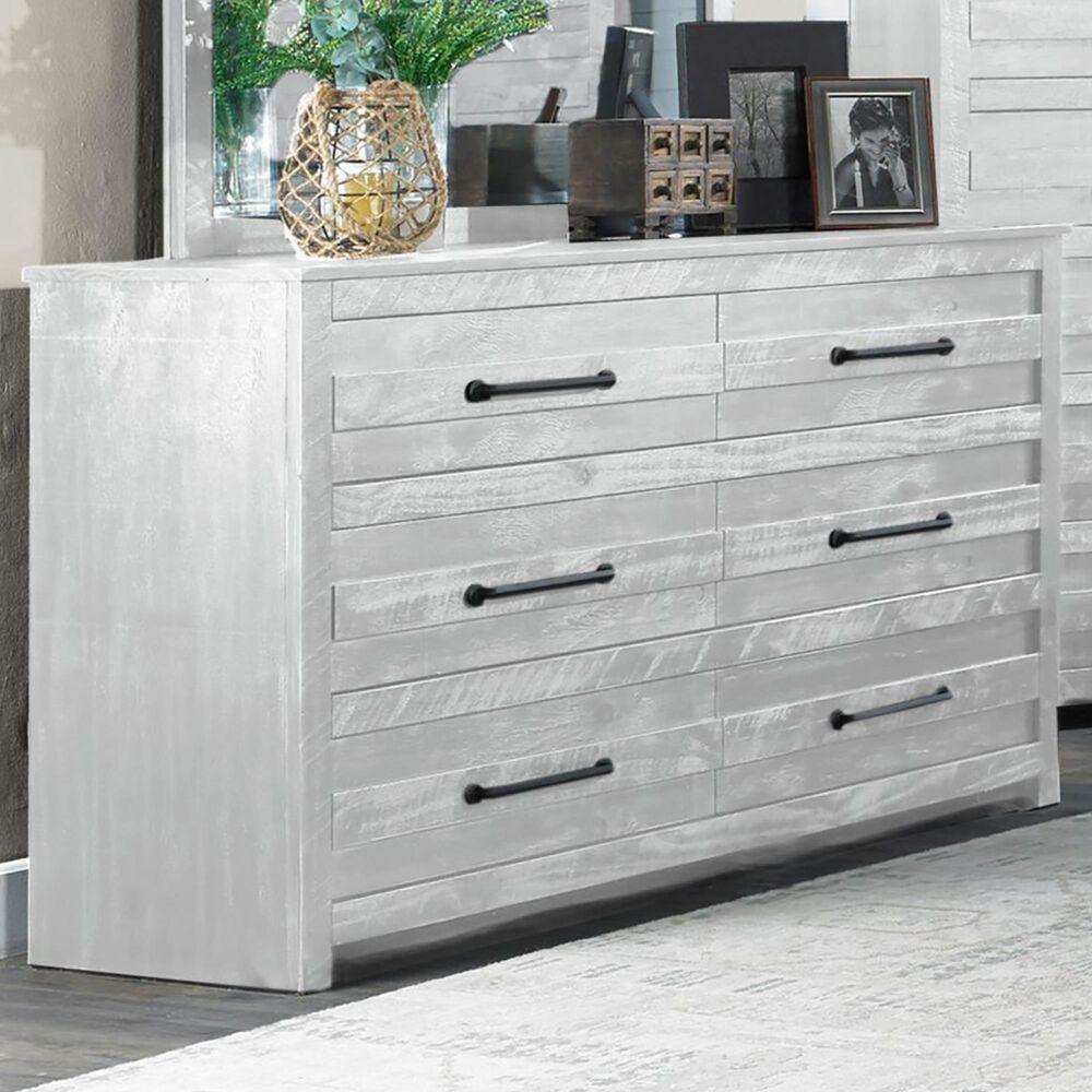 Richlands Furniture Villa Dresser in Distressed Bright White, , large