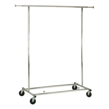 Honey Can Do Collapsible Garment Rack with Wheels in Chrome, , large