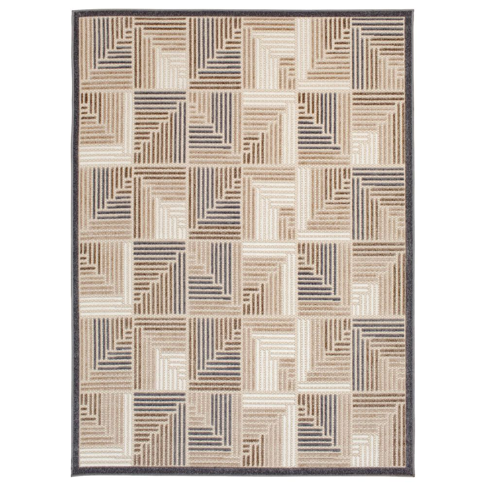Central Oriental Fontana Halden 1655.04 5' x 7' Cream and Brown Area Rug, , large