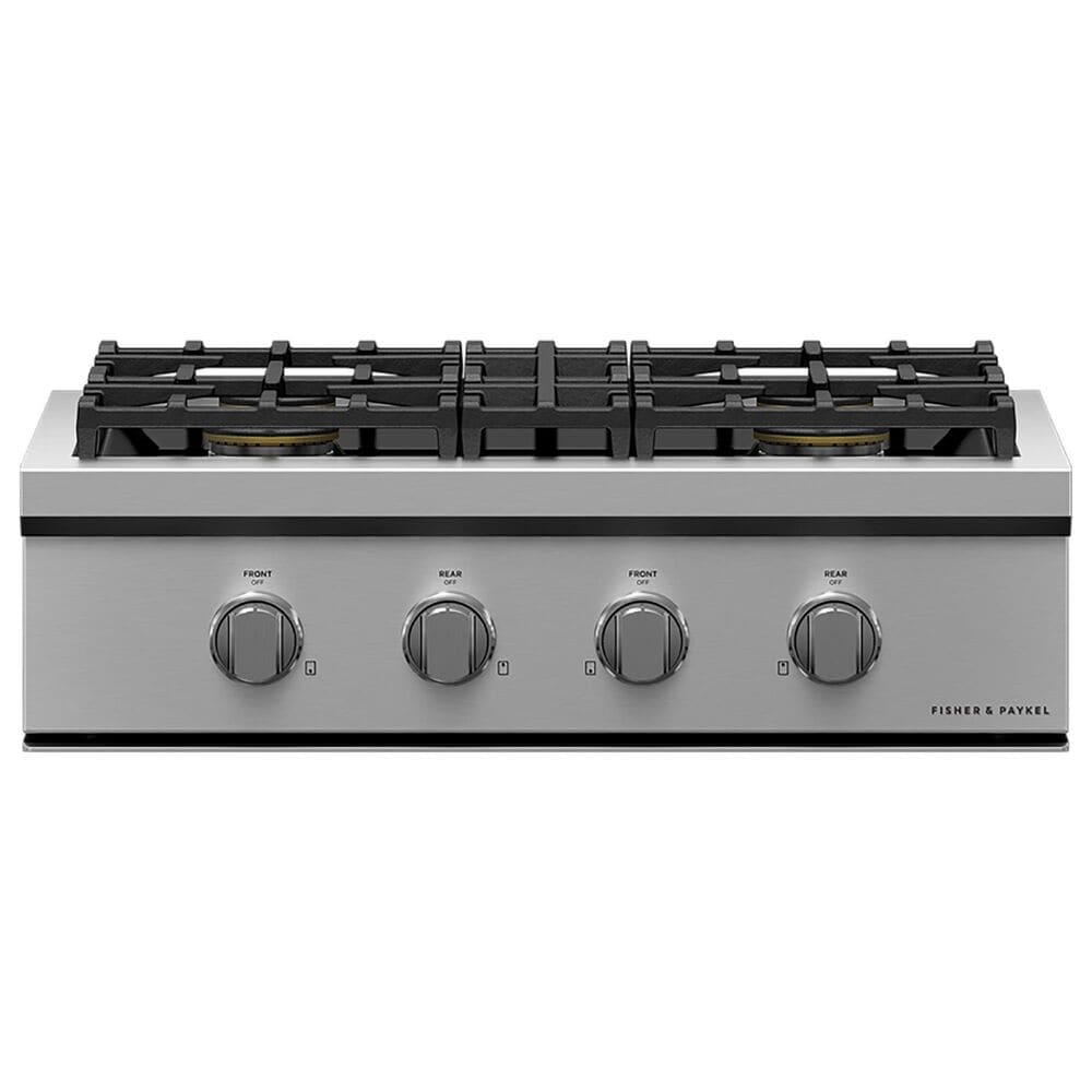"""Fisher and Paykel 30"""" Liquid Propane Gas Rangetop with 4-Burner in Stainless Steel, , large"""