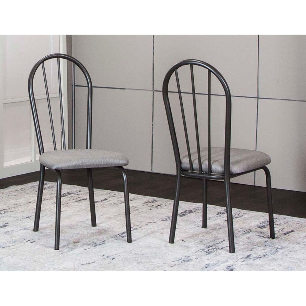 Timber 3-Piece Round Dining Set in Graphite and Vintage Gray, , large