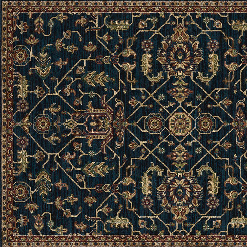 "Oriental Weavers Ankara Oriental 531B5 5'3"" x 7'6"" Blue and Red Area Rug, , large"