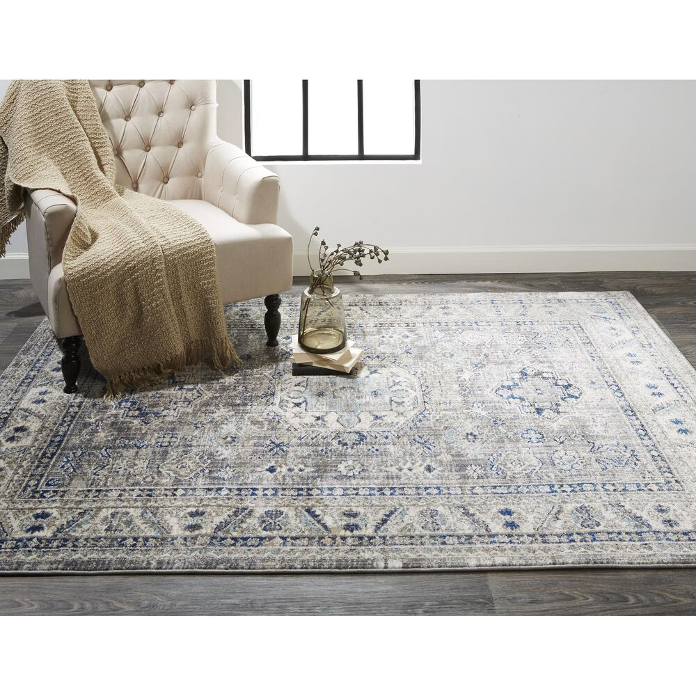 """Feizy Rugs Bellini 9'2"""" x 12'4"""" Gray and Blue Area Rug, , large"""