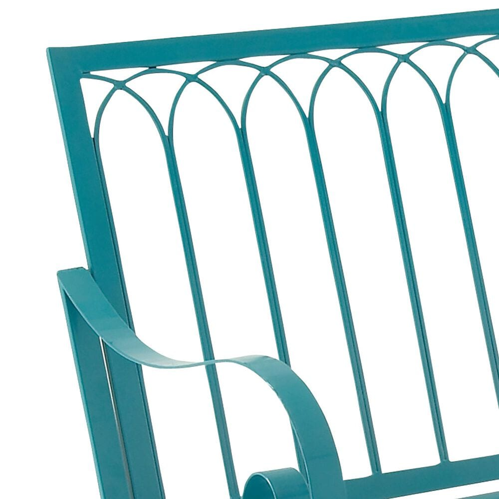 """Maple and Jade Melina 37"""" x 49"""" Rocking Bench in Turquoise, , large"""