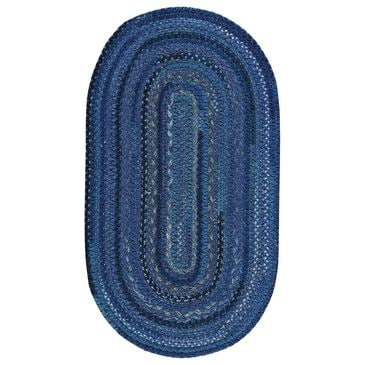 Capel Bayview 0036-470 8' x 11' Oval Twilight Blue Area Rug, , large
