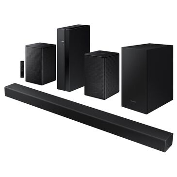 Samsung 2.1 Channel Soundbar and Wireless Rear Speakers Kit Home Theater System in Black, , large