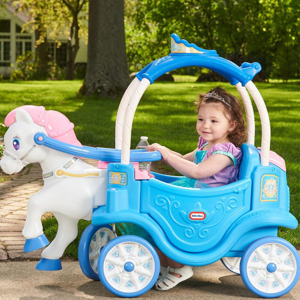 Kidfocus Little Tikes Princess Horse and Carriage in Frosty Blue, , large