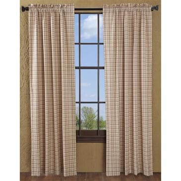"""VHC Tacoma 84"""" x 40"""" Window Panel in Creme and Red - Set of 2, , large"""
