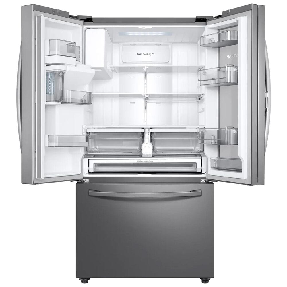 Samsung 28 Cu. Ft. 3-Door French Door Full Depth Refrigerator with Food Showcase in Stainless Steel , , large